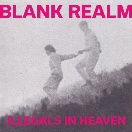 BLANK REALM Illegals In Heaven Vinyl Record LP Fire 2015 Pink Vinyl